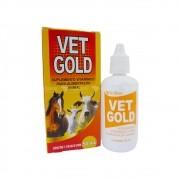 Vet Gold Suplemento Vitamínico p/ Aves Cães Gatos Coelhos Equinos Asininos Muares Ovinos Caprino Suínos 50ML
