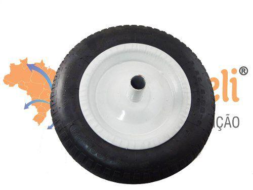 Roda para Carrinho de Mão com Pneu/Câmara/Aro 3.25x8 Plasmar