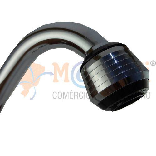 Torneira Bica Alta Móvel com Arejador Parede Base Metal C50 Cromada