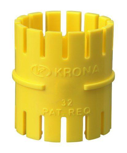Luva Pressão para Eletroduto Corrugado Amarelo 25mm Krona