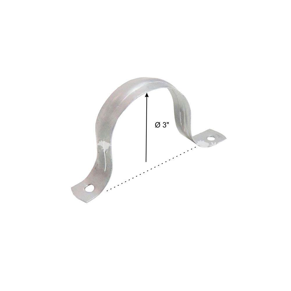 """Abraçadeira Galvanizada Tipo U 3"""" - 75 mm"""