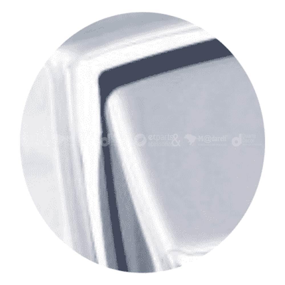 Acabamento para Válvula de Descarga Press Multiuso Cromado - Higiban