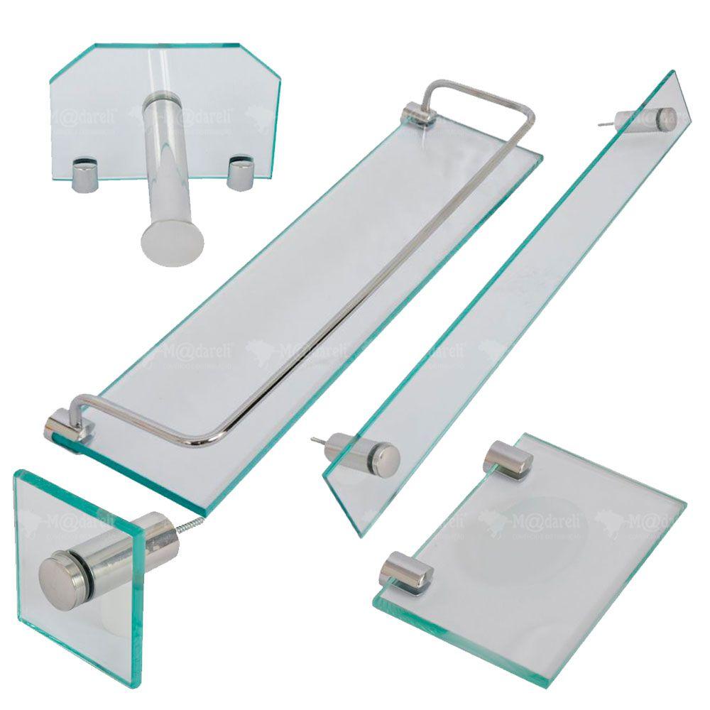 Acessórios para Banheiro em Vidro 5 Peças 10mm - Vildrex