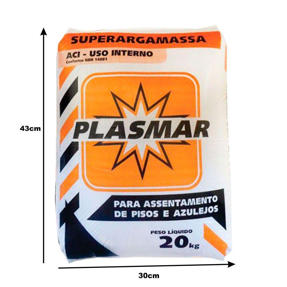 Argamassa AC-I Uso Interno 20kg - Plasmar