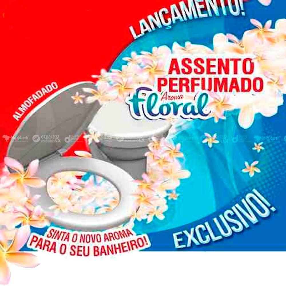 Assento Sanitário Almofadado Perfumado Floral - Durin