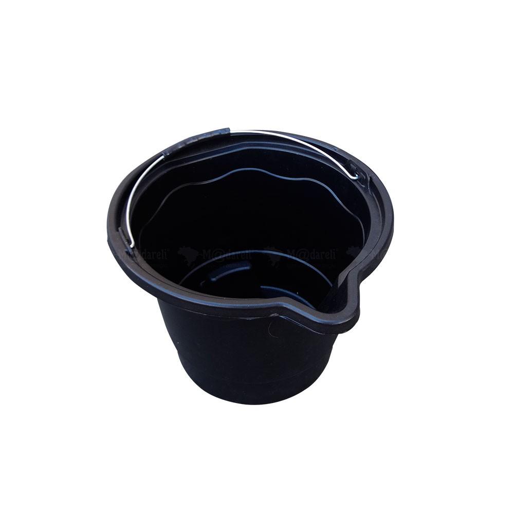 Balde Plástico Multiuso Preto 12 Litros - Thompson