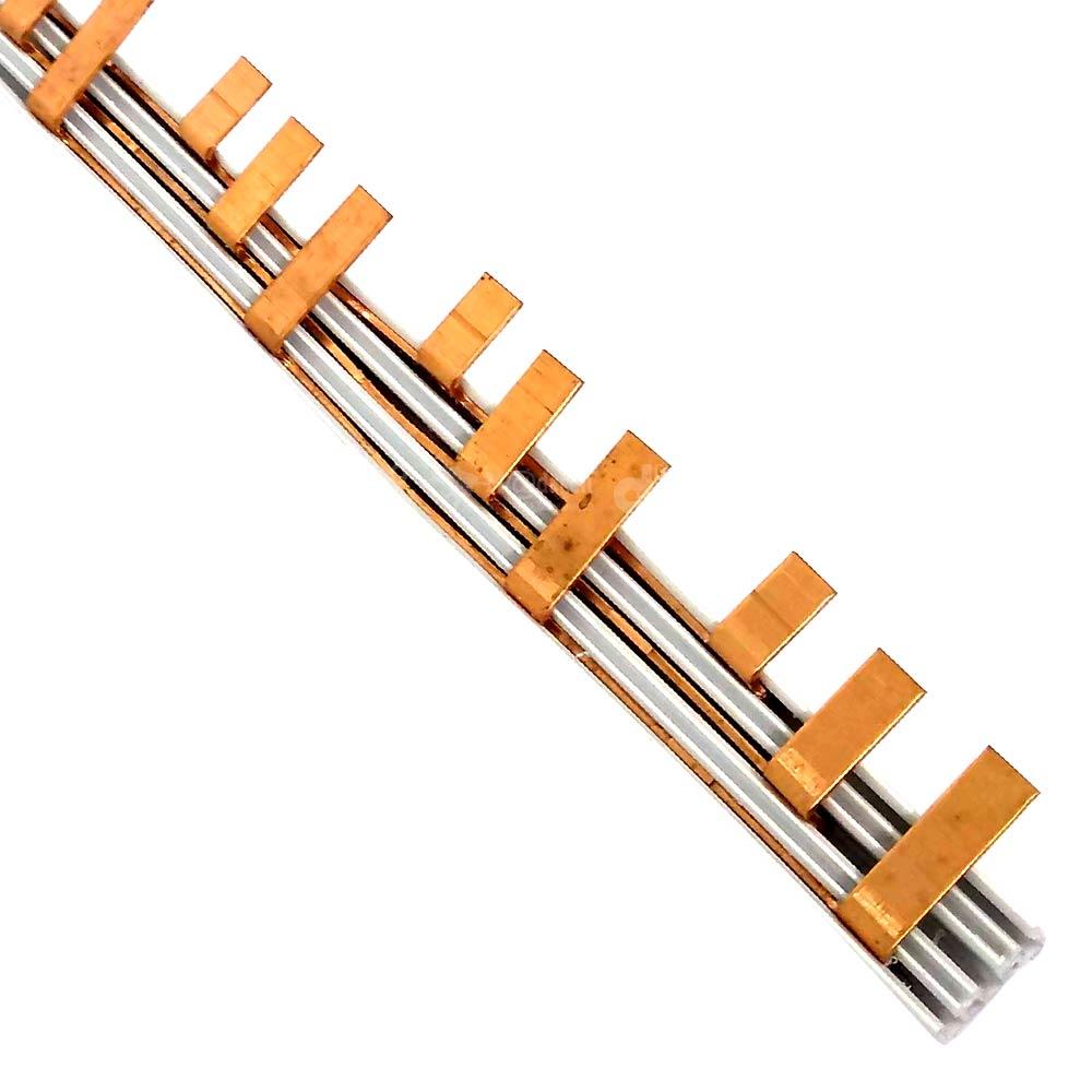 Barramento Tipo Pente Fase para 18 Disjuntores Trifásicos 63A 1 Metro - TAF