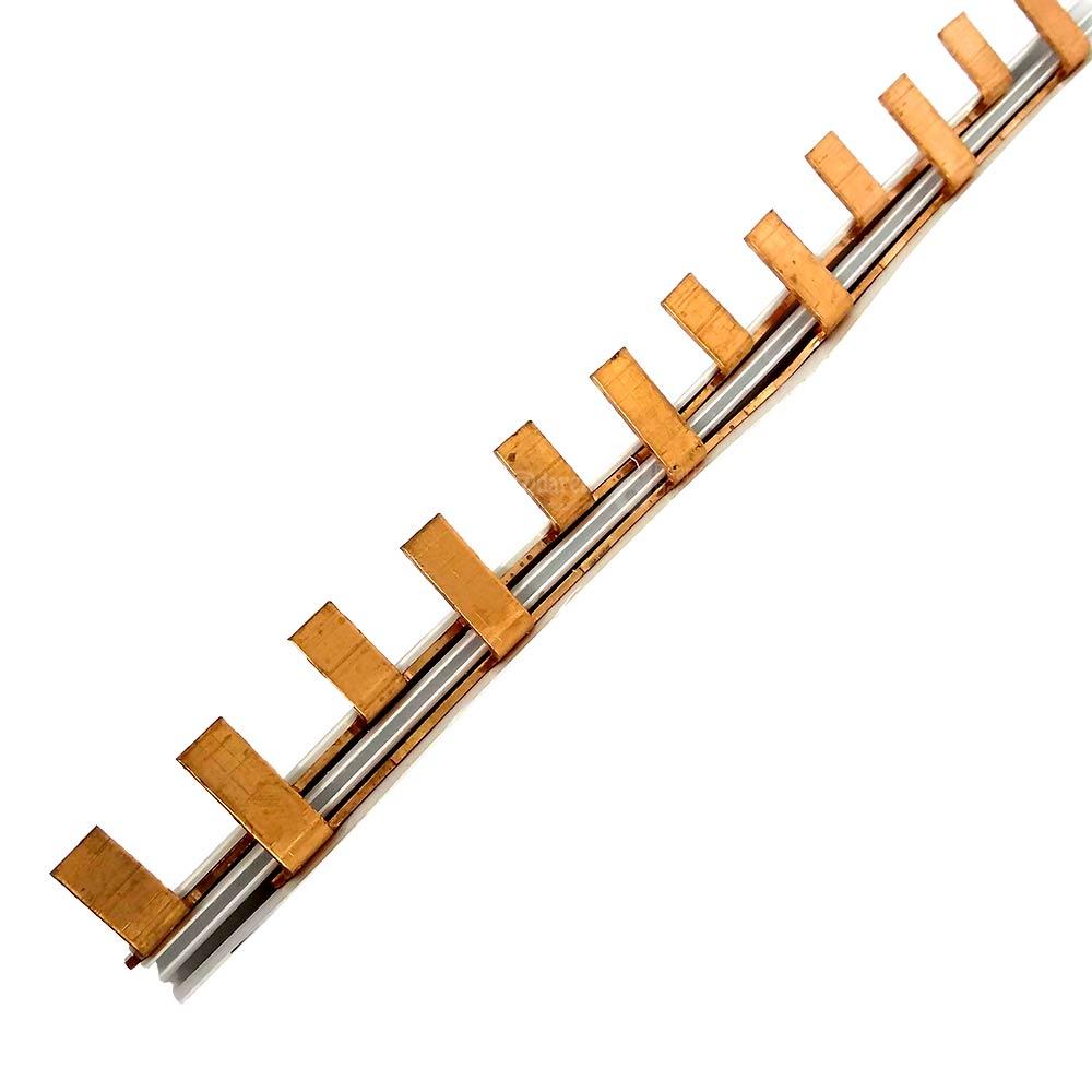 Barramento Tipo Pente Fase para 27 Disjuntores Bifásicos 63A 1 Metro - TAF