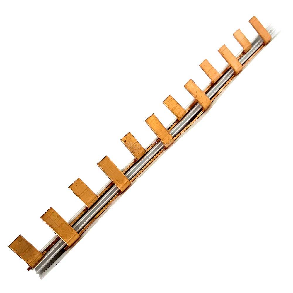 Barramento Tipo Pente Fase para 6 Disjuntores Bifásicos 63A 21cm - TAF