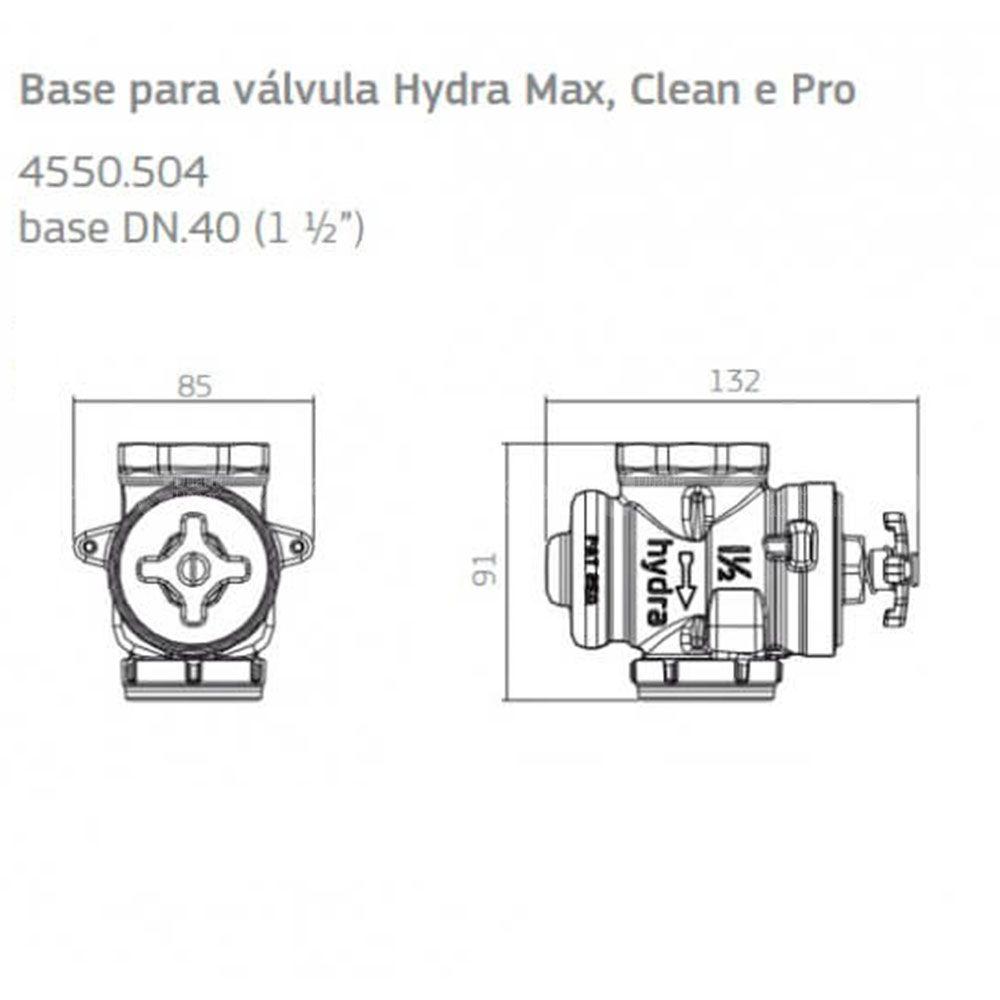 """Base para Válvula Descarga Hydra 4550-504 DN40 1,1/2"""" - Deca"""