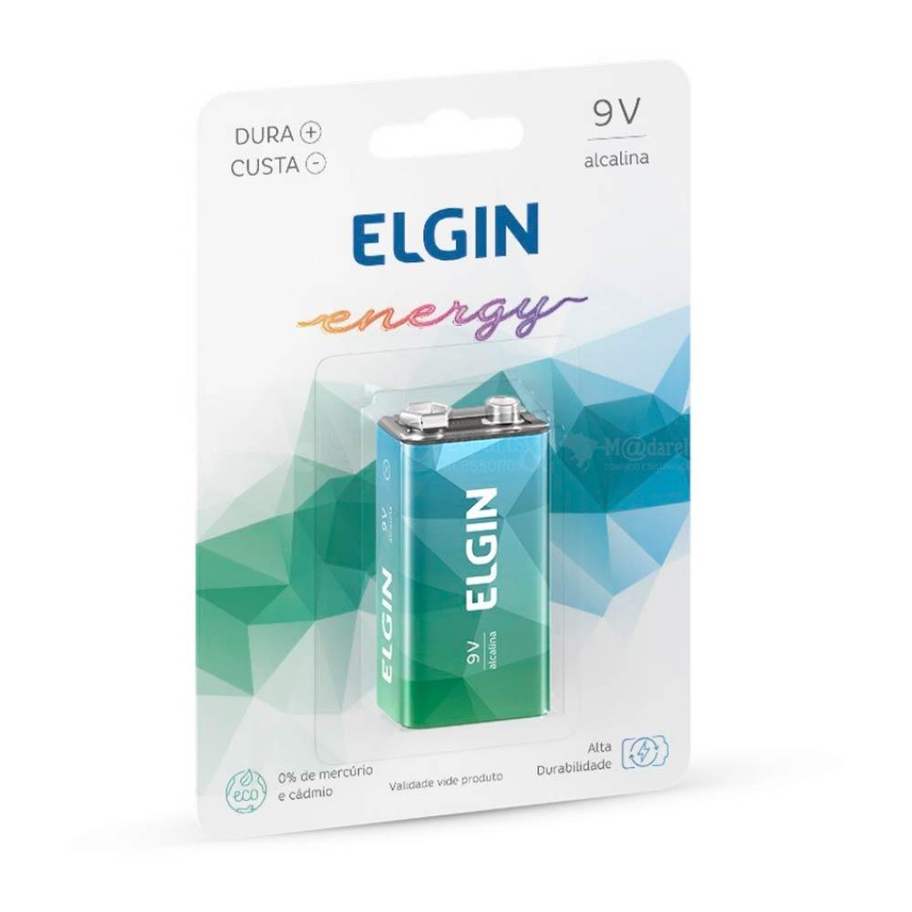 Bateria Alcalina Energy 9V - Elgin