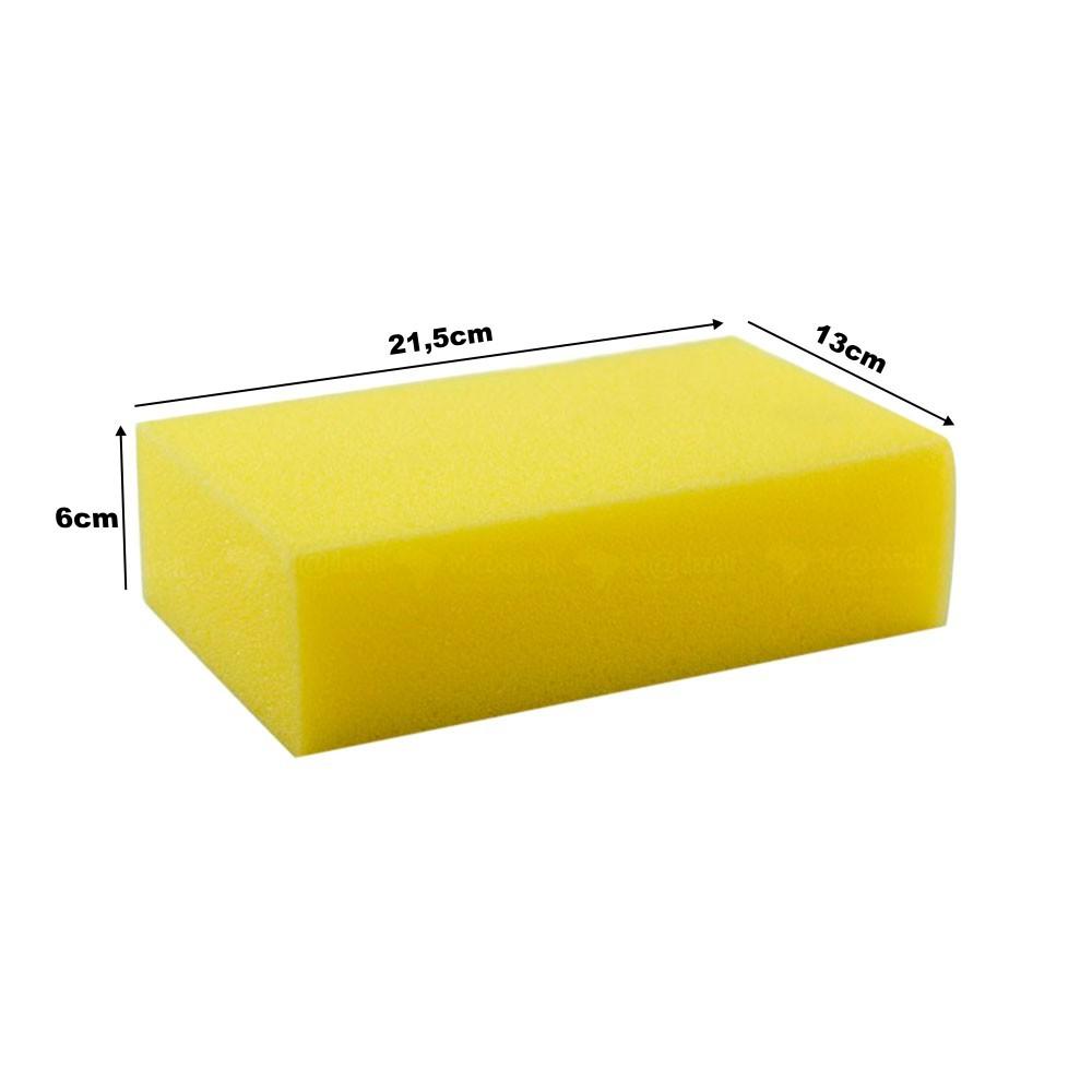 Bloco de Espuma Filtro para Reboco 6x13x21,5cm - Brasipla