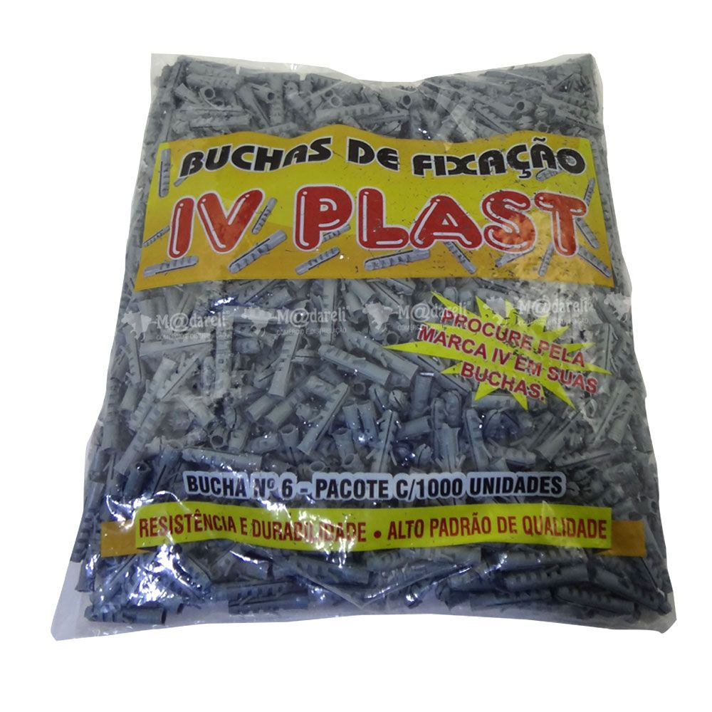 Bucha 6 com 1000 Unidades - Iv Plast