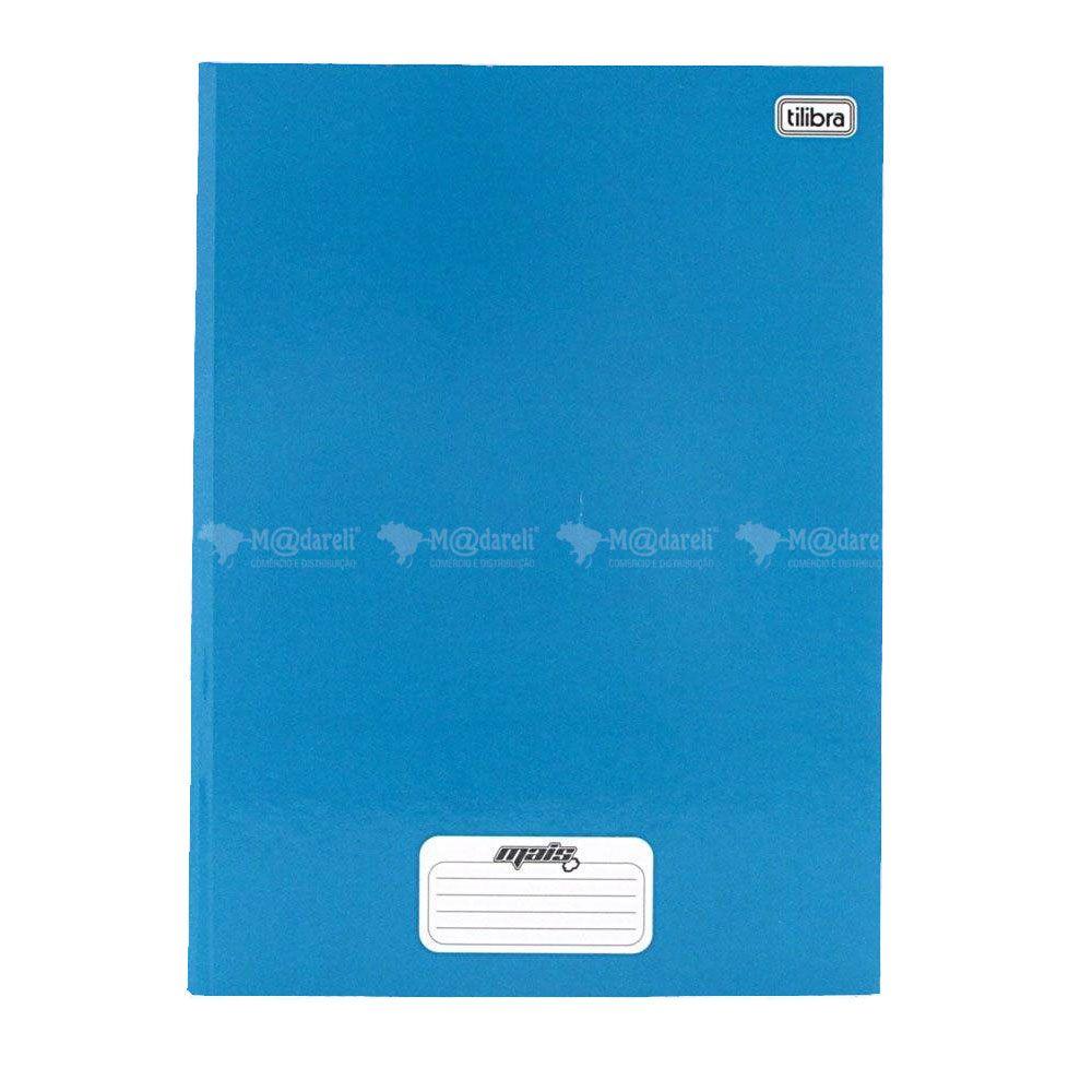 Caderno Brochura Tilibra Azul Capa Dura 140x200mm 96 folhas