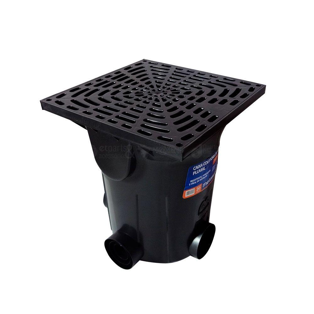 Caixa Coletora de Água Pluvial Premium 41x41x48 cm 41,2 LT - Metasul
