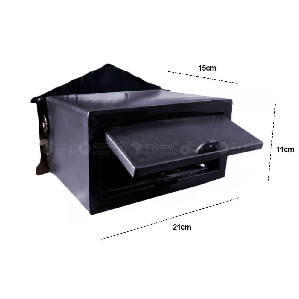 Caixa de Correios Prata Alumínio e PVC Grade ou Muro 17x25x15cm