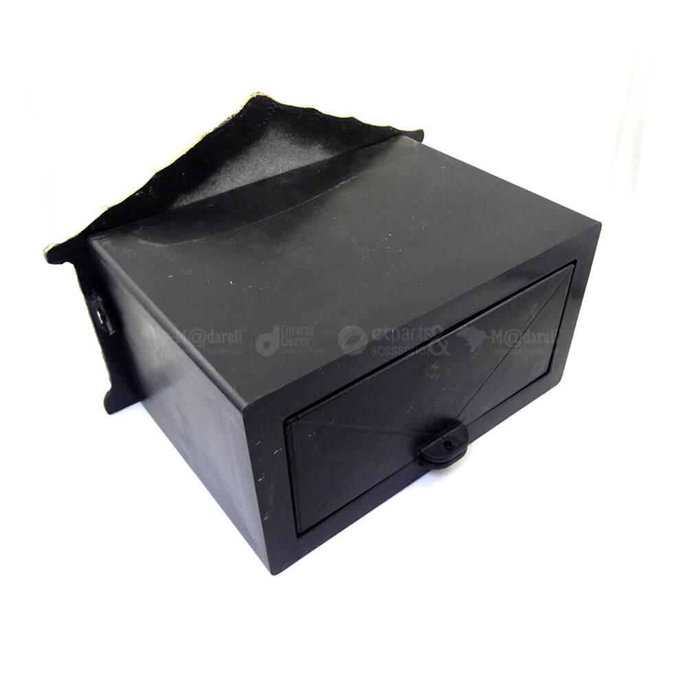 Caixa de Correios frente de Alumínio e PVC para Grade ou Muro 17x25x15cm
