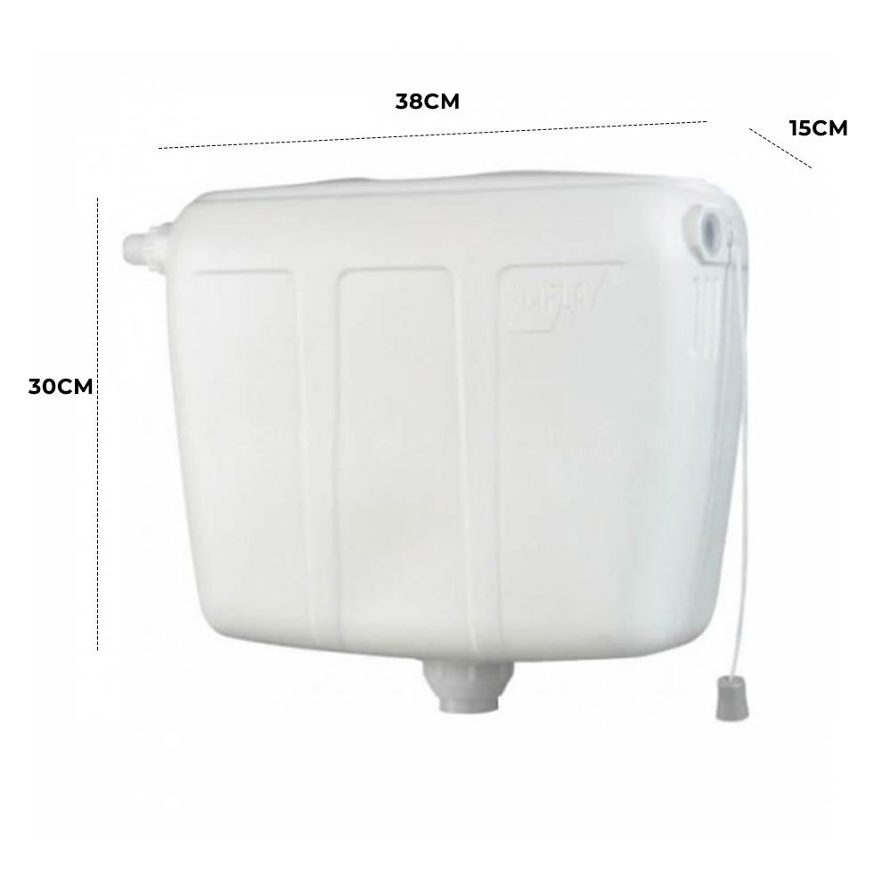 Caixa de Descarga Branca 9 Litros - Cipla