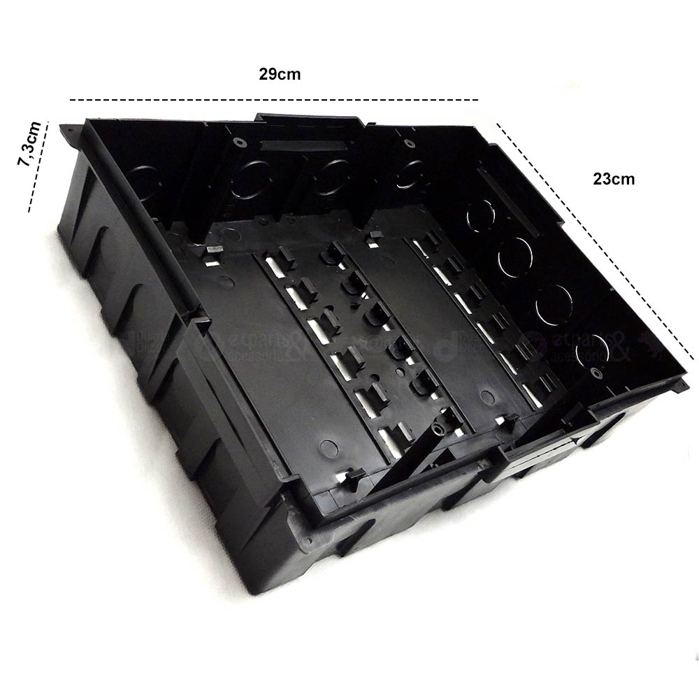 Caixa de Distribuição Embutir 12/16 Tampa Fumê 24x32x9cm - Taf