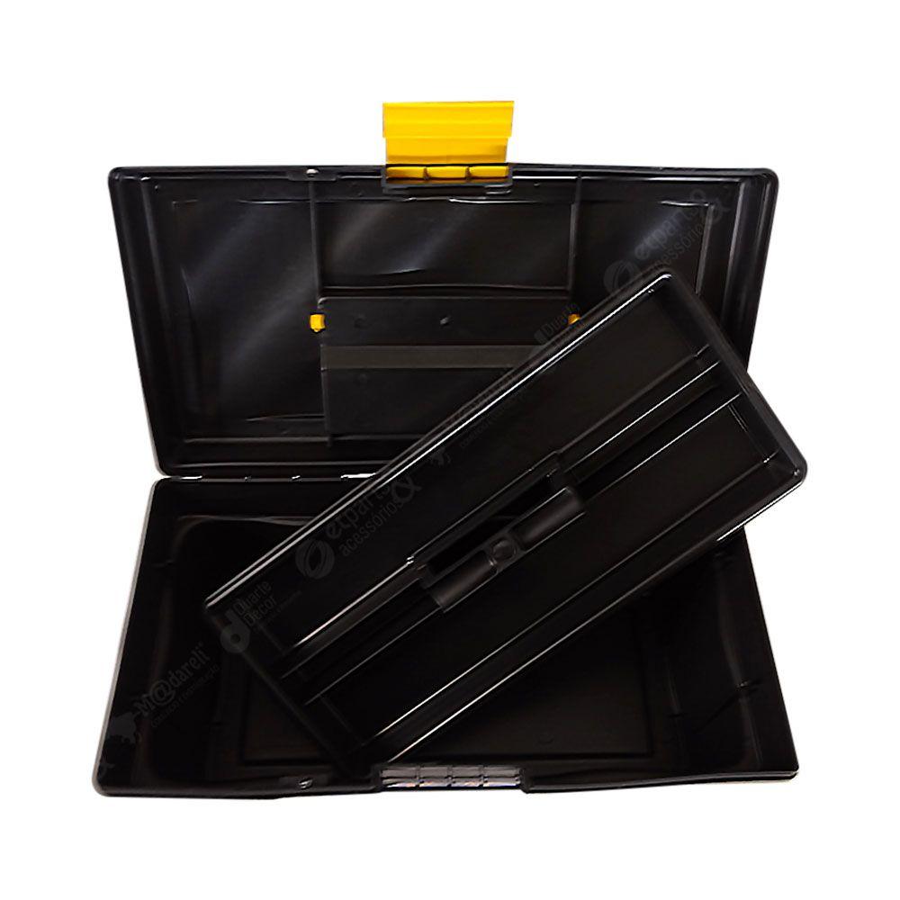 """Caixa de Ferramentas Plástica Média 20 x 40cm - 16"""" Metasul"""