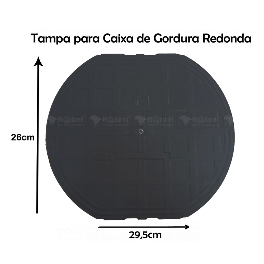 Caixa Sifonada Cinza 4 furos Ponteiras Brec