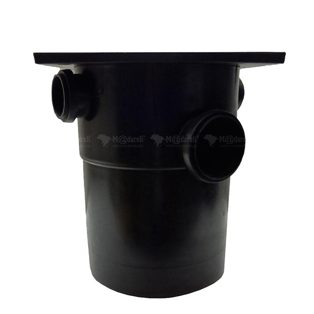Caixa de Gordura Sifonada 32 Litros com Cesto de Limpeza e Tampa Quadrada