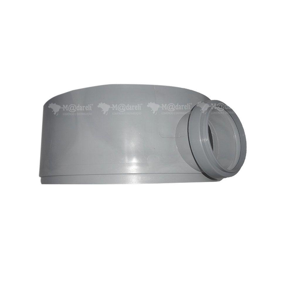 Caixa de Gordura Sifonada Tampa Quadrada Cinza e Prolongador