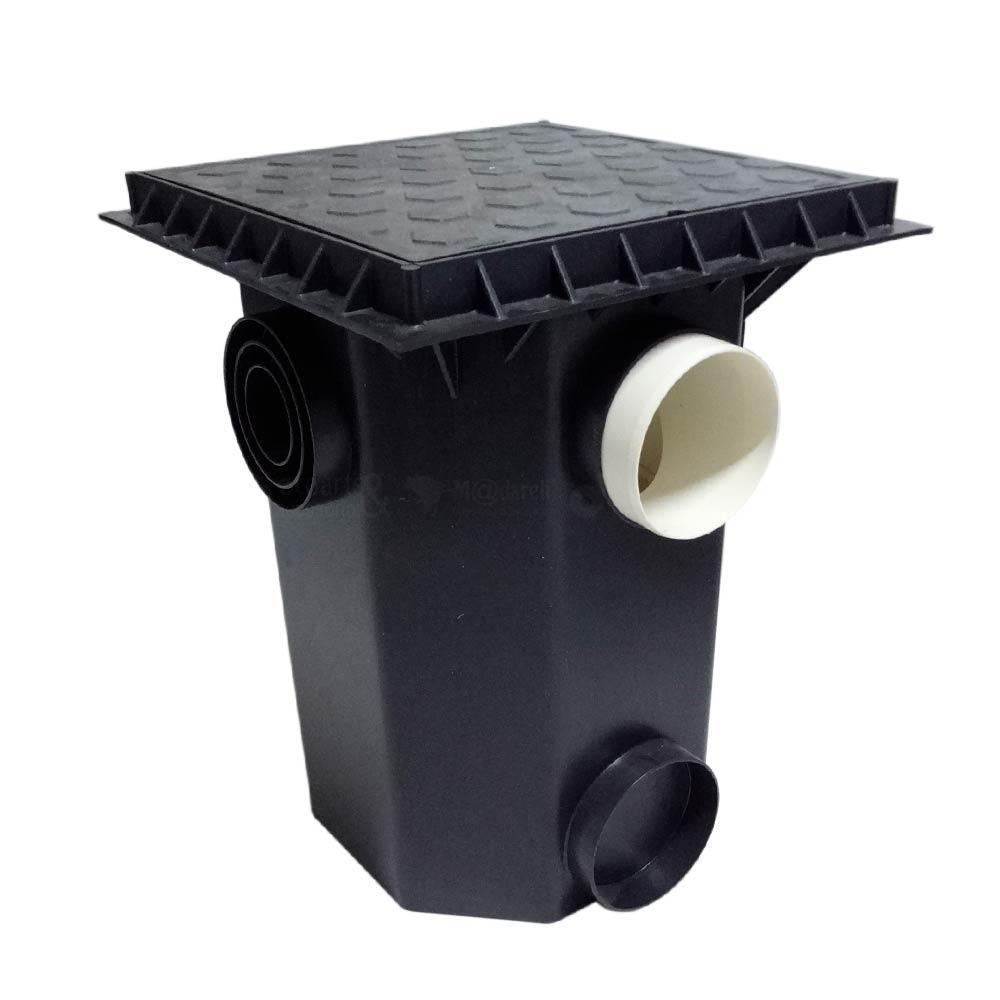 Caixa de Gordura Tampa Quadrada Reforçada 35x35x43 Madareli