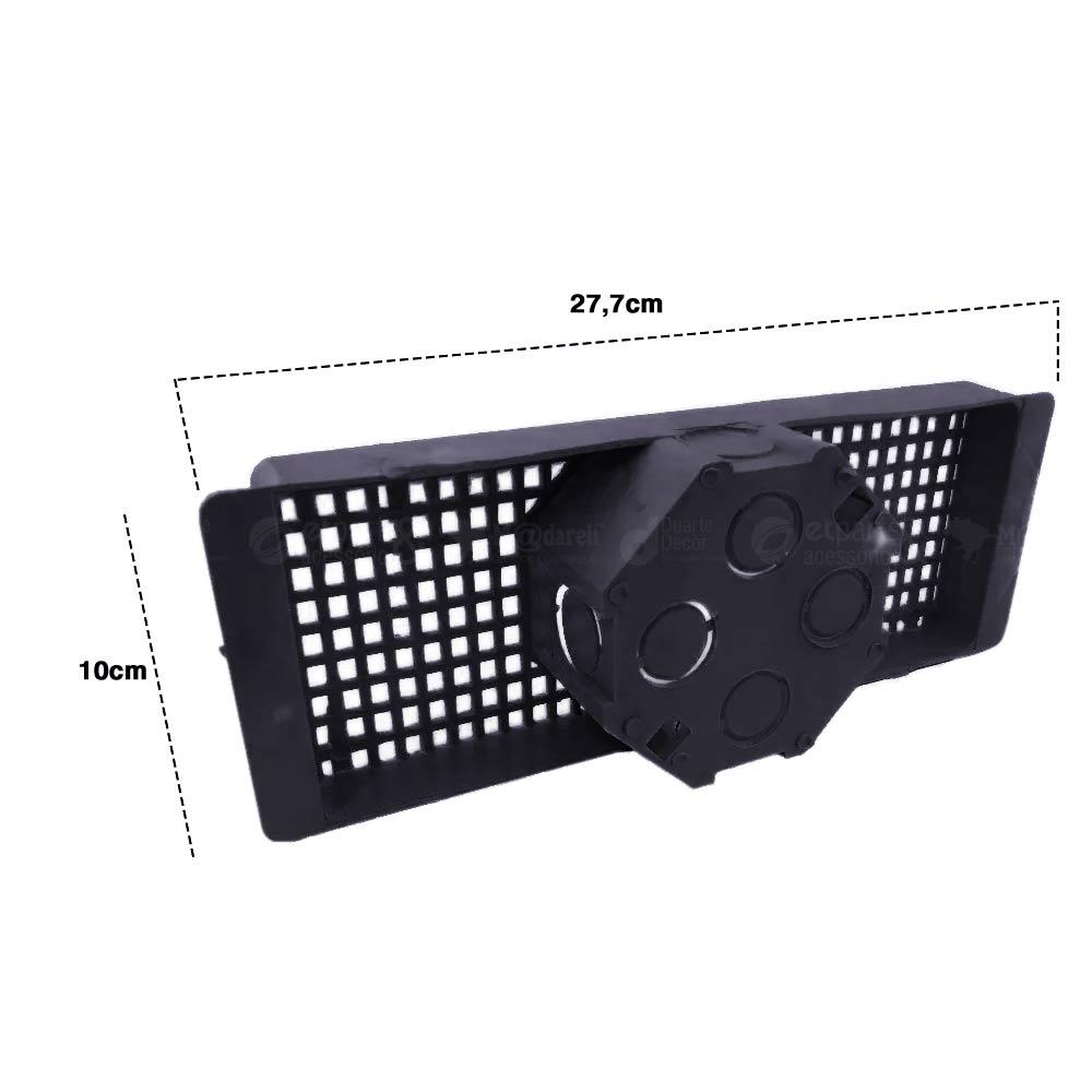 Caixa de Luz Octogonal Suporte Para Laje 25cm Kit 12 Unidades