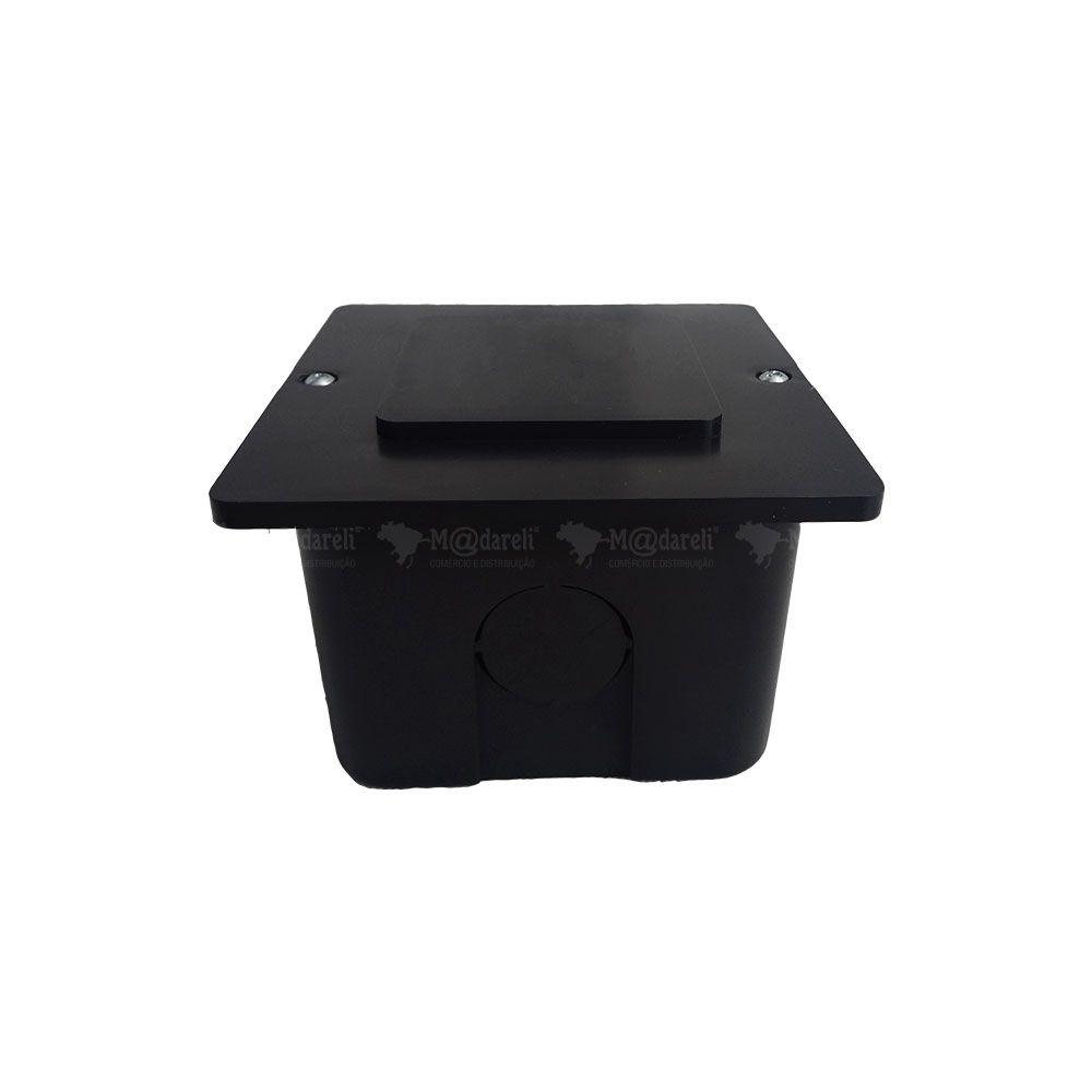 Caixa de Passagem 10cm x 10cm Preta - Taf
