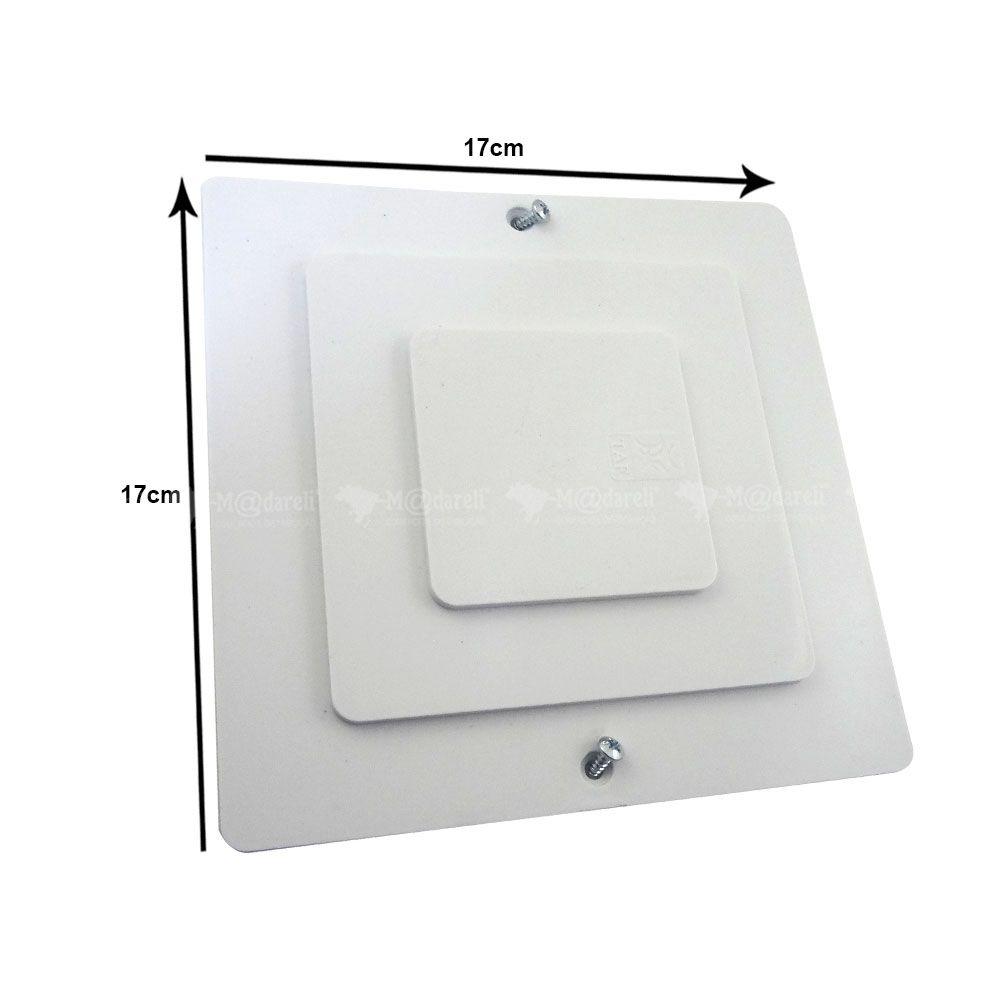 Caixa de Passagem 15 cm x 15 cm Tampa Branca - Taf