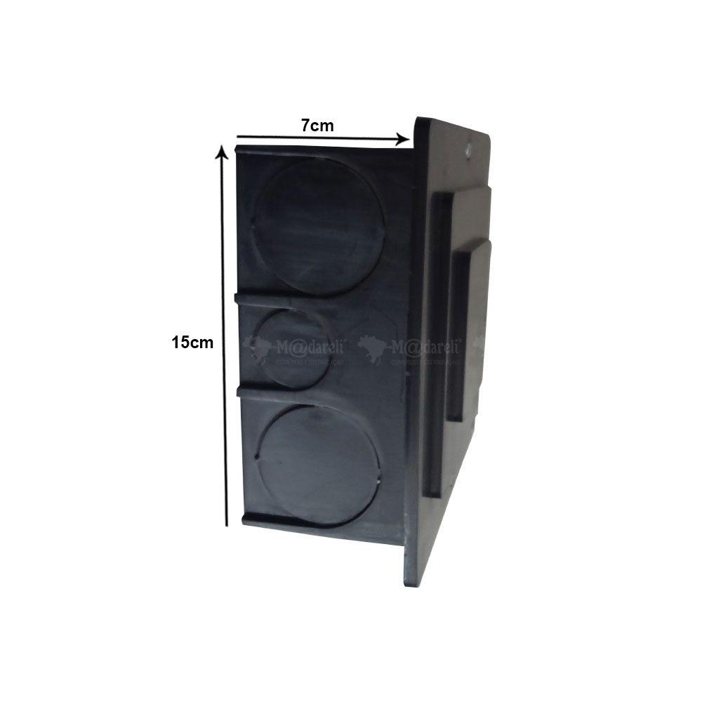Caixa de Passagem 15 cm x 15 cm Preta - Taf