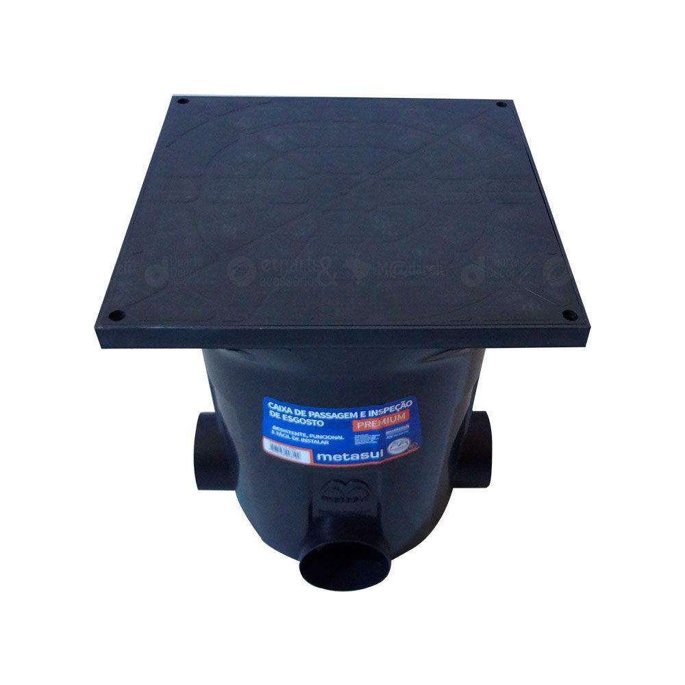 Caixa de Passagem e Insp de Esgoto Premium 410x410x480mm - Metasul