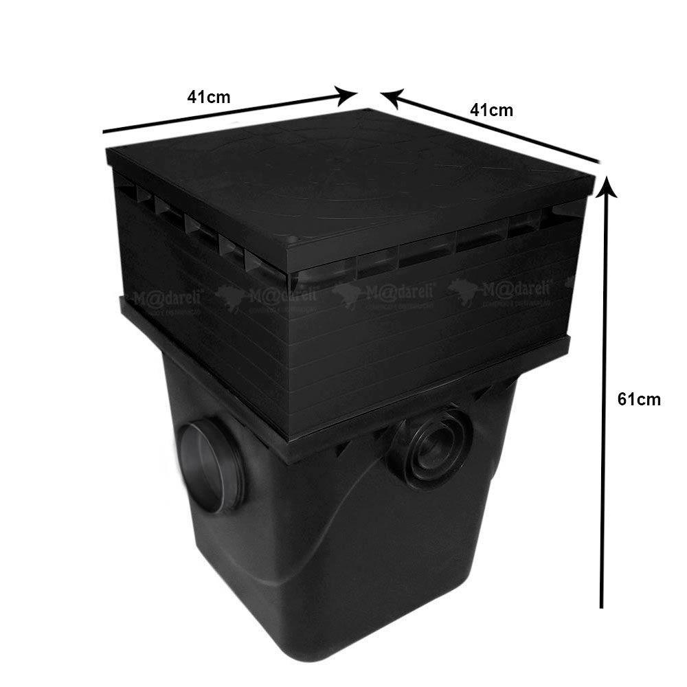 Caixa de Passagem e Inspeção 42 Litros + Prolongador