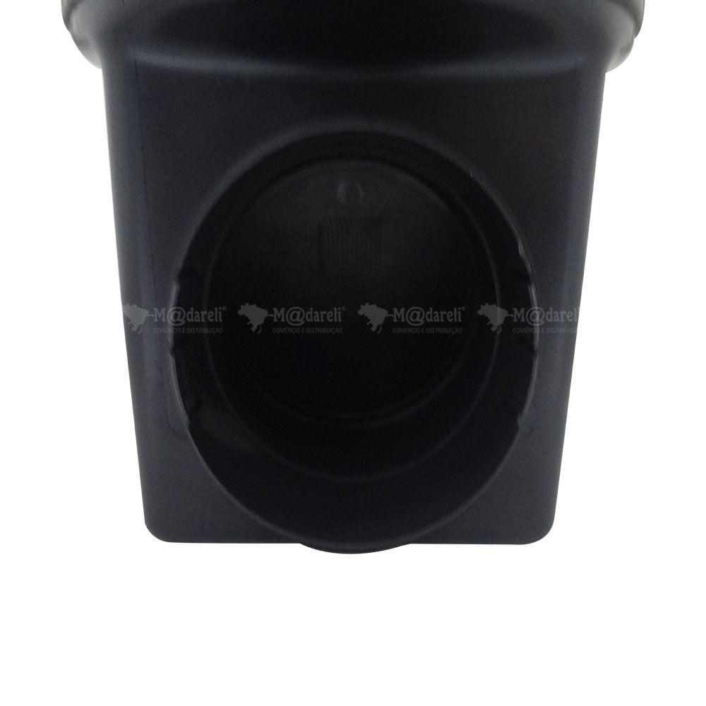 Caixa de Passagem e Inspeção de Esgoto com Válvula de Retenção Preta 4,5L DN100 24x20x24cm