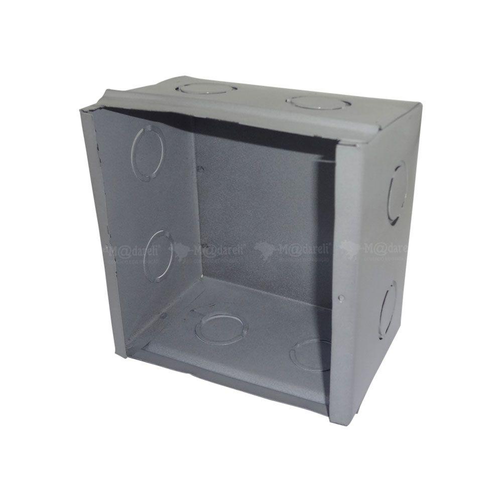 Caixa de Passagem Metal - Plasmar 15x15x7cm