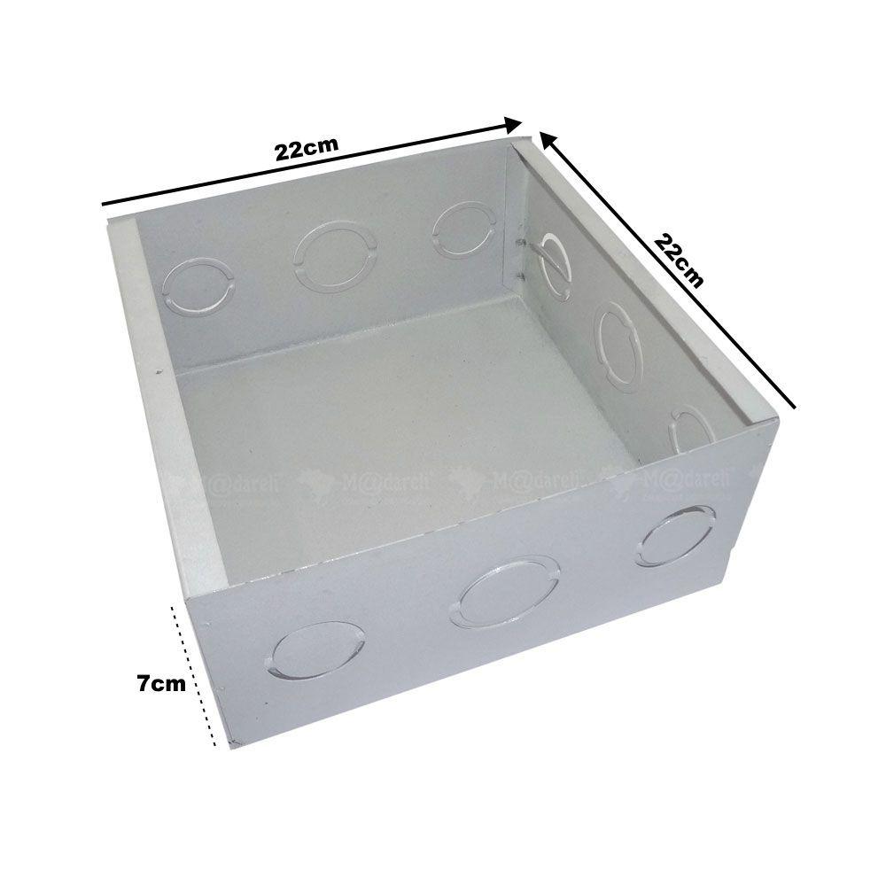 Caixa de Passagem Plasmar- Metal 20 cm x 20 cm