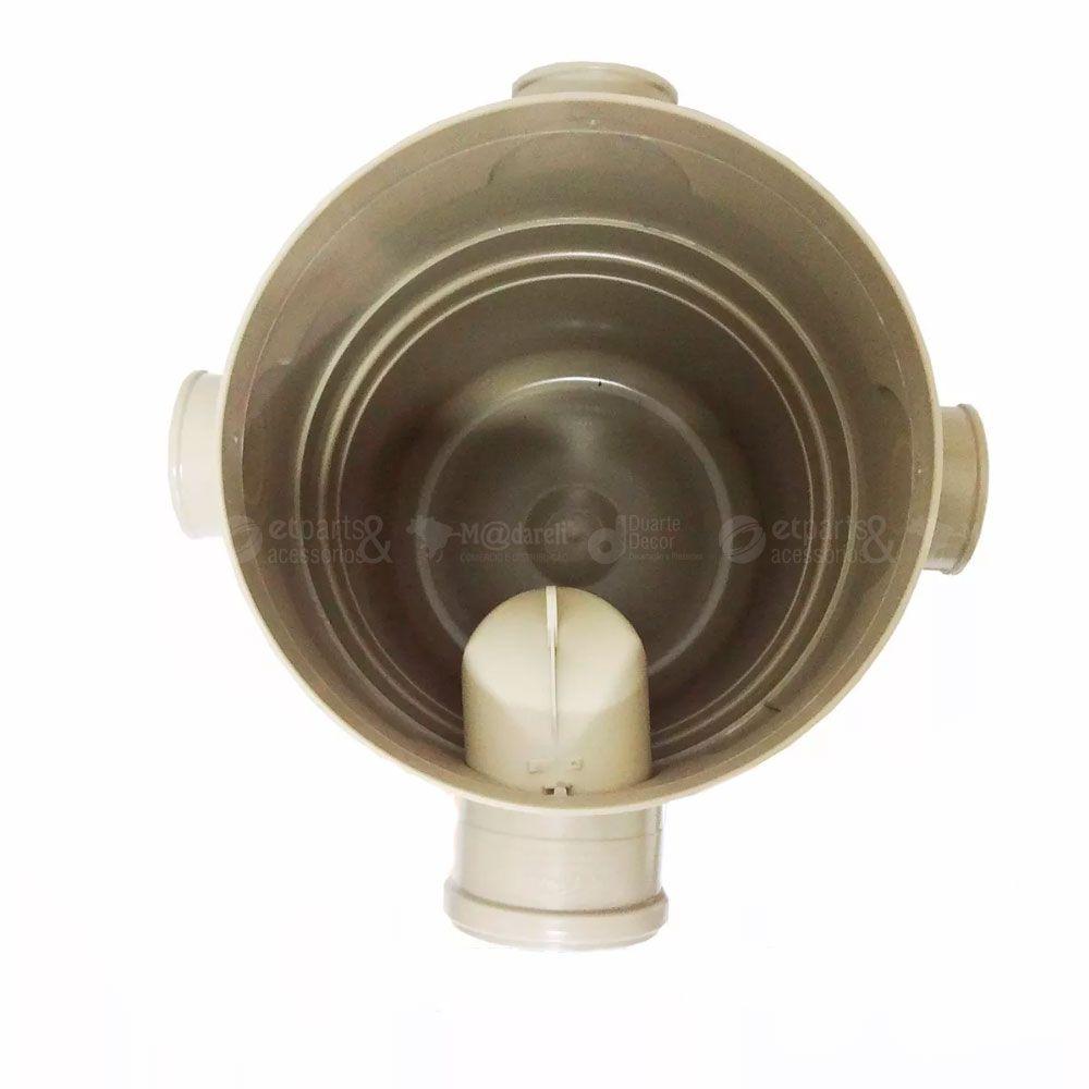 Caixa Gordura Bege 21,6L com Tampa Quadrada Reforçada Cinza - Amanco