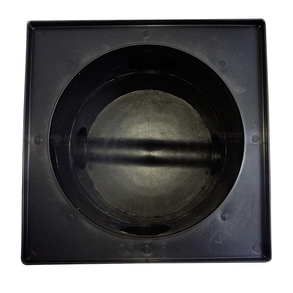 Caixa de Passagem e Inspeção de Esgoto com Tampa Quadrada Preta - DN 100 - 340x300x340mm - Madareli