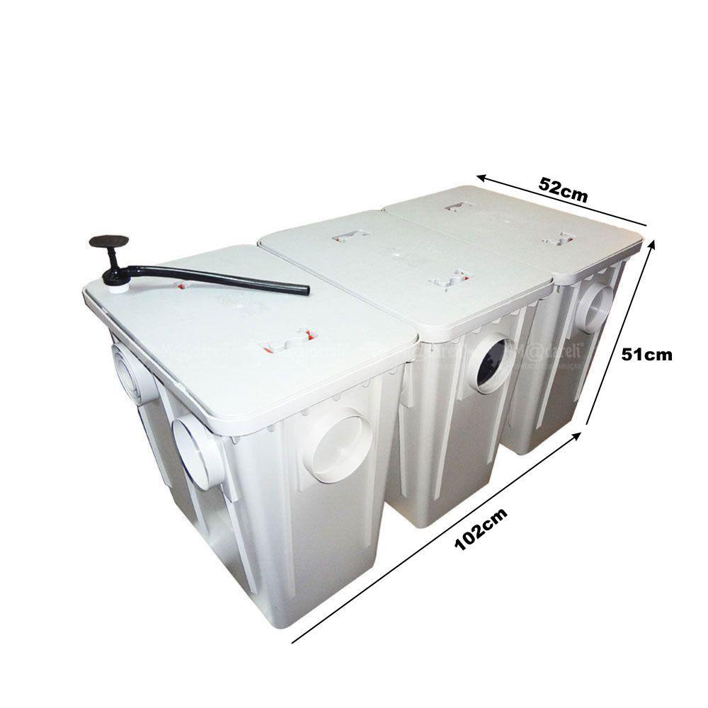 Caixa Separadora de Água e Óleo 1200 L/h Placas Coalescentes + Bomba de Sucção