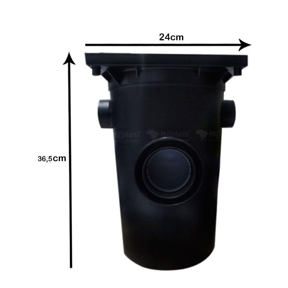 Caixa Gordura 12 Litros com Cesto para Limpeza 240x365x240mm