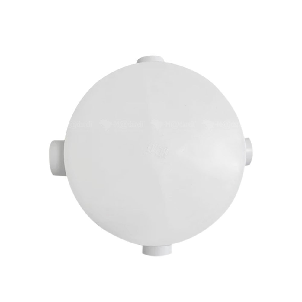 Caixa Sifonada Gordura Tampa Redonda PVC 3 Entradas 250x150x50mm - Herc
