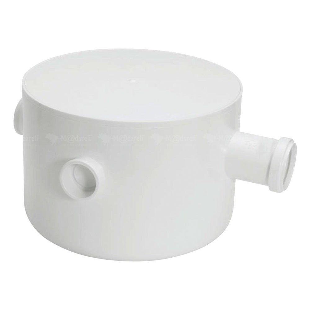 Caixa Sifonada Gordura Tampa Redonda PVC 3 Entradas – Amanco