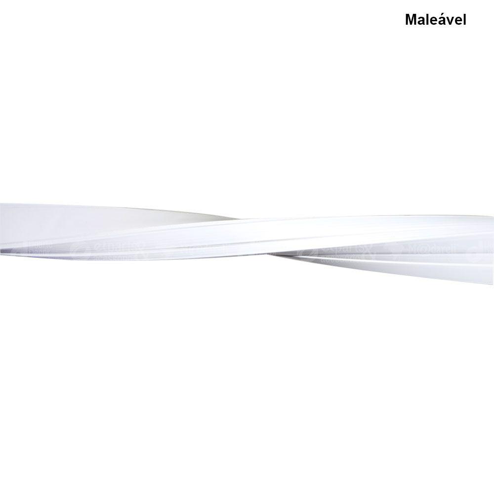 Canaleta de PVC Branca com Fita Adesiva Caixa 25 Un - Ilumi