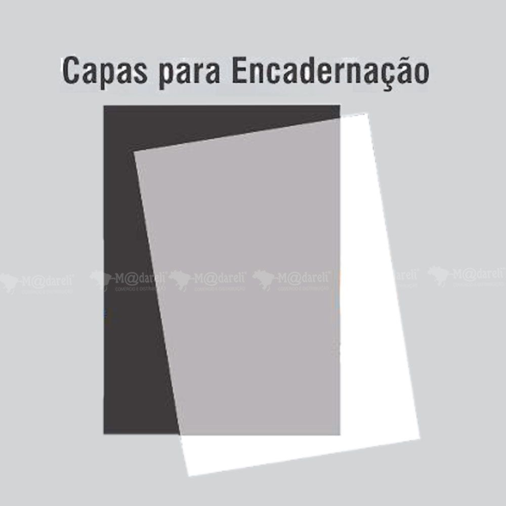 Capas para Encadernação Transparente 100 Unidades