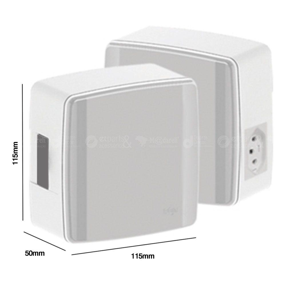 Caixa Compacta p/ Disjuntor + Tomada 20A Sem Disjuntor Ilumi