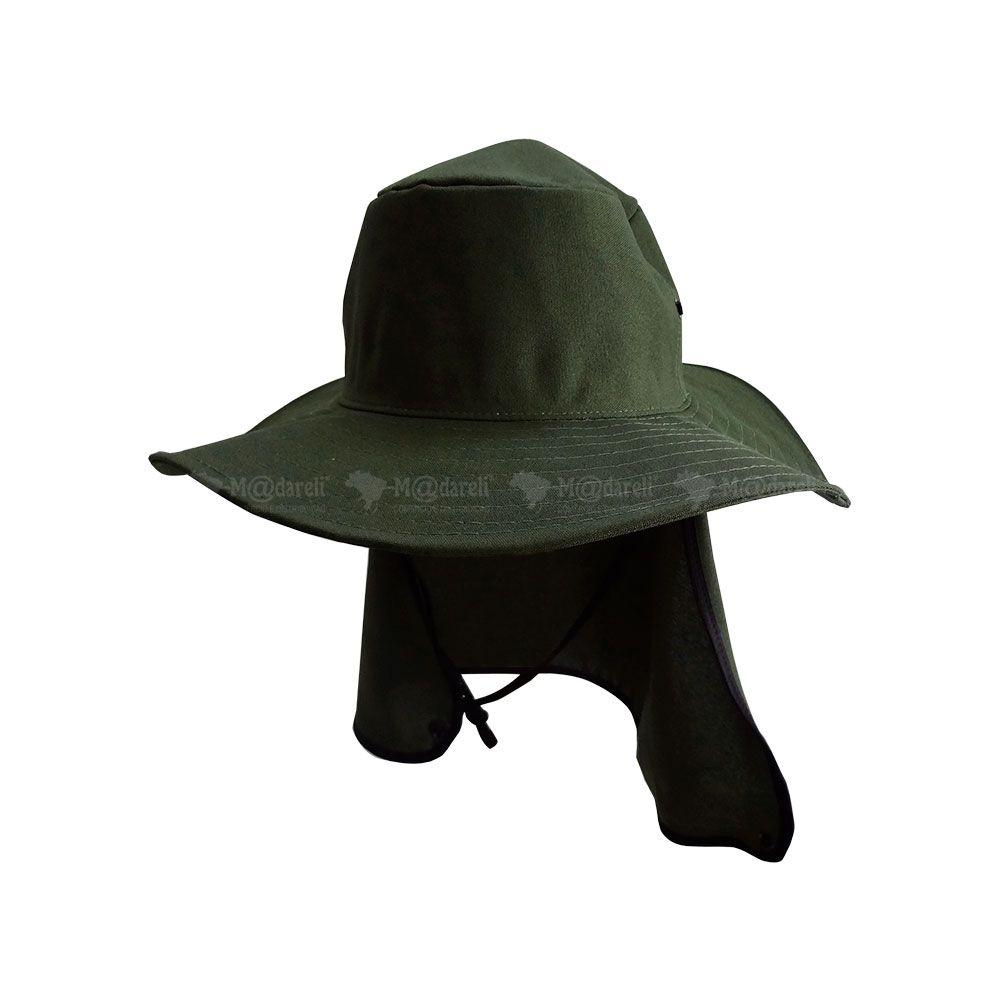 Chapéu com Cobertura de Pescoço + Colete Salva Vidas + Remo