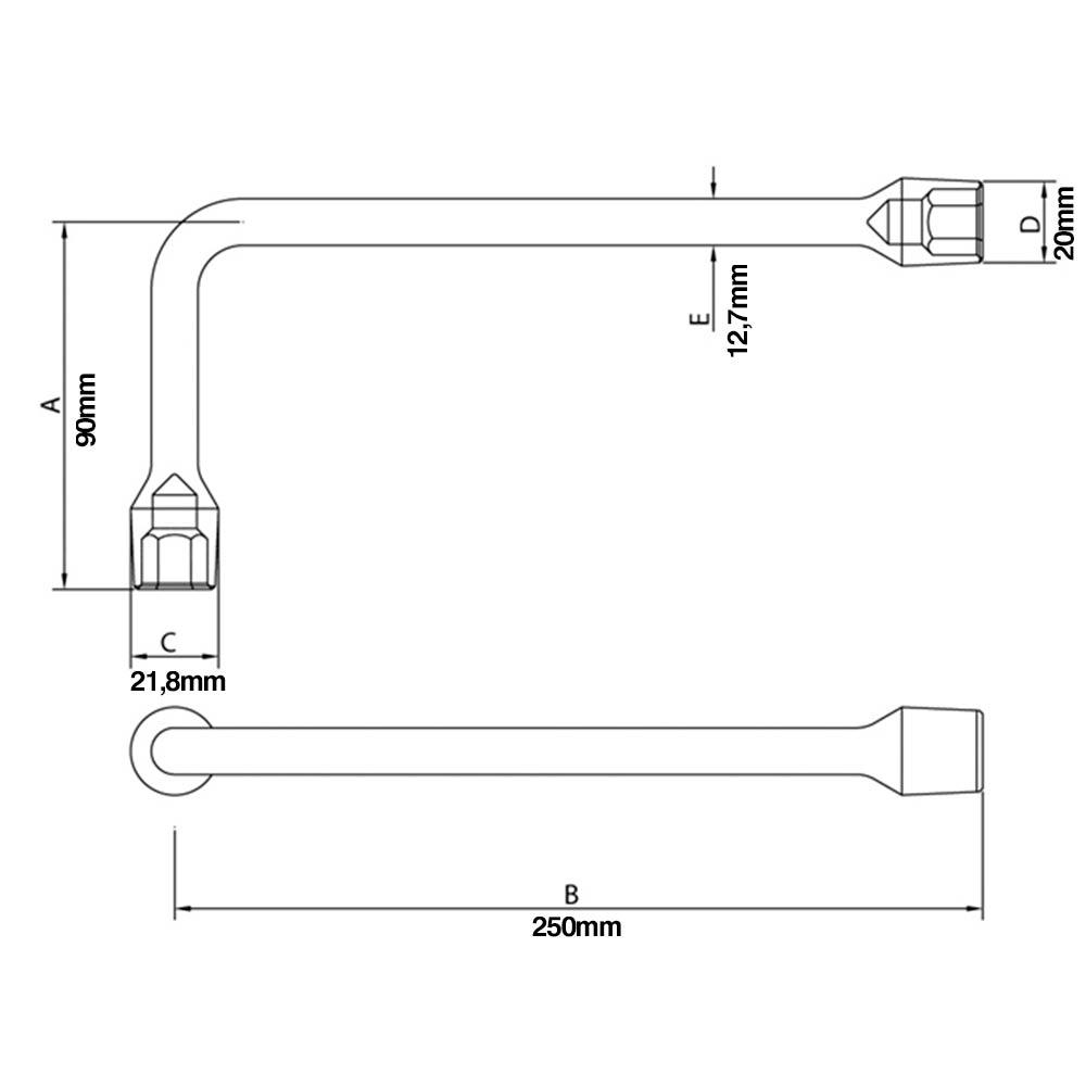 Chave L Biela 14 mm 42805/114 - Tramontina