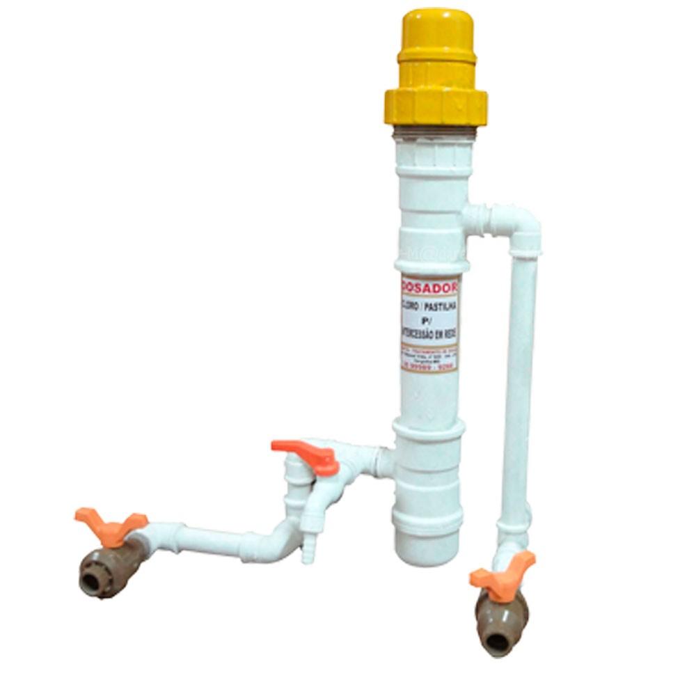 Clorador Dosador + 25 Pastilhas + Kit Análise da água