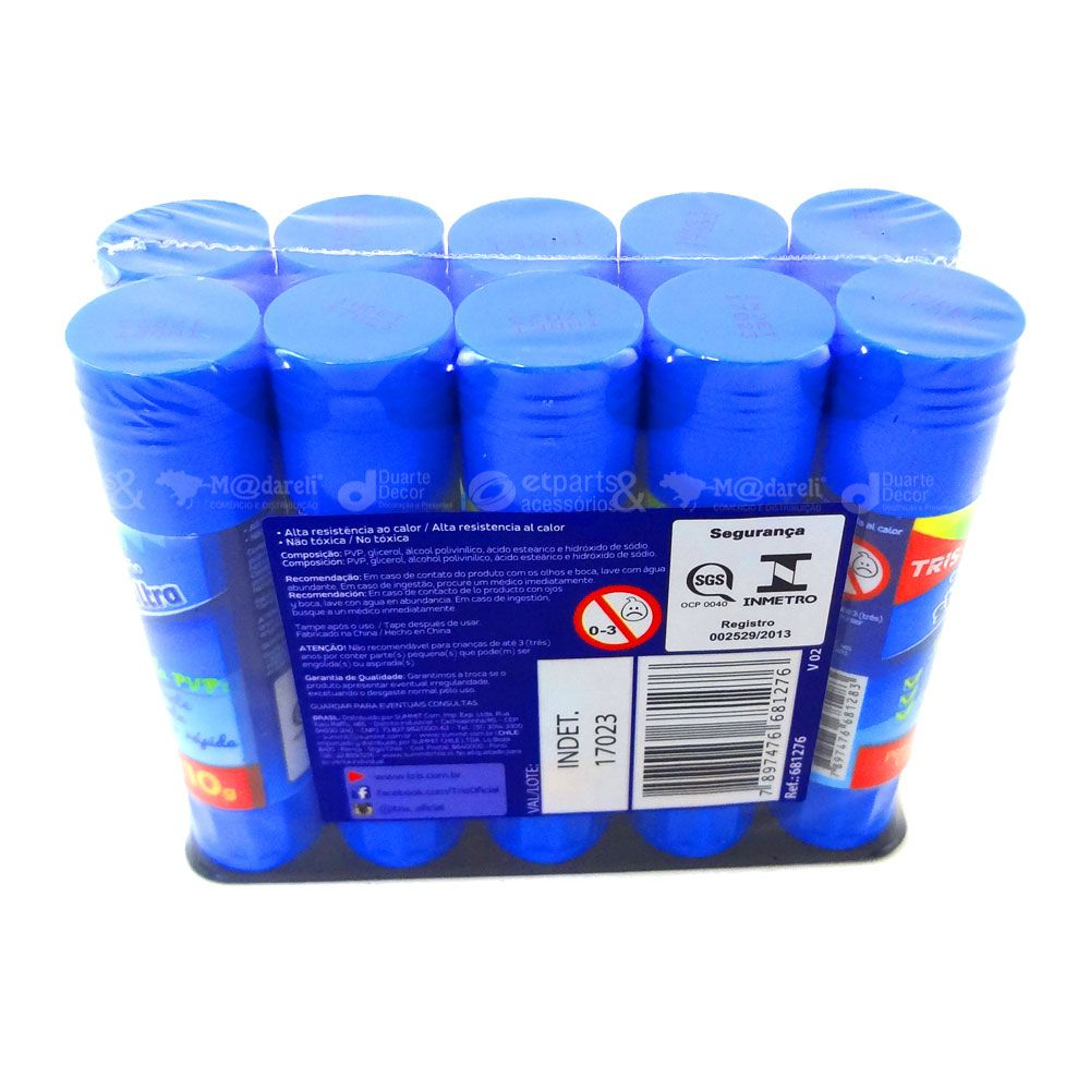 Cola Bastão Stick Ultra Pacote com 10 Unidades - Tris